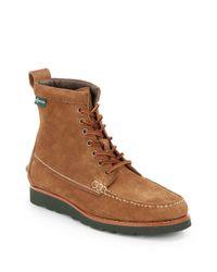 Eastland Brown Sherman 1955 Moc-Toe Suede Boots for men
