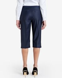 Ted Baker | Blue Tailored Cropped Trousers | Lyst