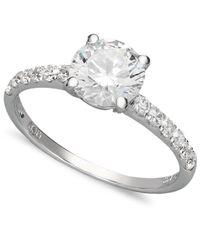 Arabella   White Swarovski Zirconia Wedding Ring (2-3/4 Ct. T.w.)   Lyst