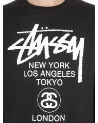 Stussy Black World Tour Cotton Blend Sweatshirt