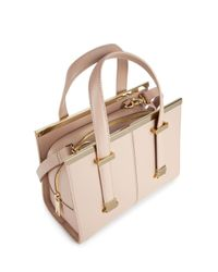 Ted Baker Pink Cristie Small Crosshatch Satchel