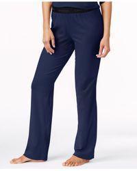 Calvin Klein | Blue Comfort Cotton Logo Pants | Lyst
