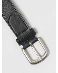 TOPMAN - Blue Grey Melton Inlay Belt for Men - Lyst