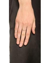 Aurelie Bidermann Metallic Thin Gold Star Ring - Gold