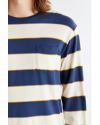 Obey - Blue Battery Tee for Men - Lyst