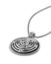 David Yurman Metallic Labyrinth Large Disc Pendant
