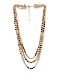 Forever 21 | Metallic Pretty Tough Layered Necklace | Lyst