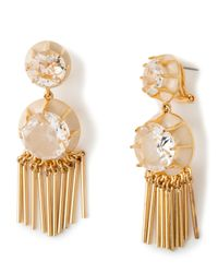 Lele Sadoughi | Metallic Double-drop Crystal Fringe Earrings | Lyst