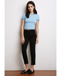Forever 21 | Blue Striped Sweater Tee | Lyst