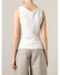 Giorgio Armani - White Scoop Neck Top - Lyst