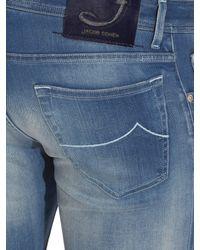 Jacob Cohen - Blue Tailored Stretch-denim Jeans for Men - Lyst