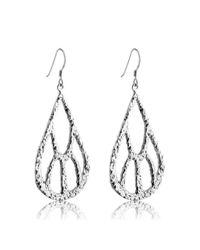 Belcho - Metallic Textured Five Point Teardrop Earrings - Lyst