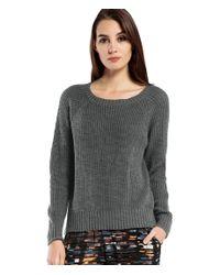 Michael Stars | Gray Cotton Slub Reversible Sweater With Zipper | Lyst