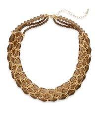 Saks Fifth Avenue - Metallic Woven Chain Collar Necklace - Lyst