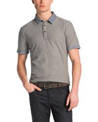 BOSS Orange | Gray Knitwear Polo Shirt 'peeters' In Cotton for Men | Lyst