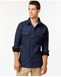 Hurley Blue Brick Snap-front Shirt Jacket for men