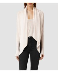 AllSaints - Brown Wasson Pirate Cardigan - Lyst