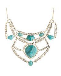 Alexis Bittar - Blue Crystal Mosaic Geometric Bib Necklace - Lyst