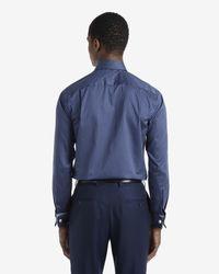 Ted Baker | Blue Satin Striped Shirt for Men | Lyst