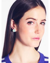 Kate Spade | Pink Kate Spade Earrings Small Square Studs | Lyst