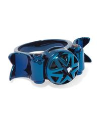 Eddie Borgo - Blue Metal Crystal Ring - Lyst