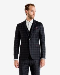 Ted Baker - Blue Checked Wool Jacket for Men - Lyst
