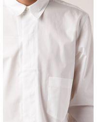 Christophe Lemaire White Long Sleeve Shirt for men