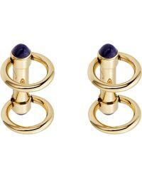 Cartier | Metallic Double Ring Decor Gold Cufflinks for Men | Lyst