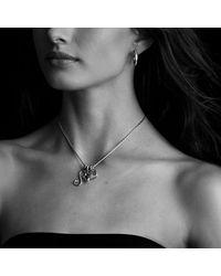David Yurman - Metallic Quatrefoil Pendant With Diamonds - Lyst