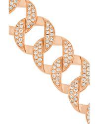 Anita Ko - Metallic Link 18-karat Rose Gold Diamond Bracelet - Lyst