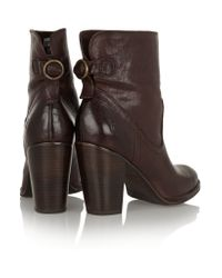 Frye Brown Lara Leather Boots