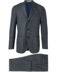 Boglioli - Gray Three-button Suit for Men - Lyst