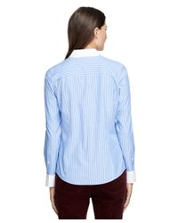 Brooks Brothers | Blue Non-iron Fitted Bold Stripe Dress Shirt | Lyst