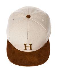 Huf Natural The Gold Metal H Strapback Hat for men