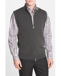 Peter Millar | Gray Merino Wool Blend Vest for Men | Lyst