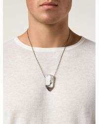 Joseph Brooks | Metallic Crystal Pendant Necklace for Men | Lyst