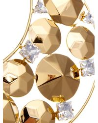 Vickisarge - Metallic Fallen Angel Crystal Gold-Plated Necklace - Lyst