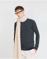 Zara | Blue Striped Sweater for Men | Lyst