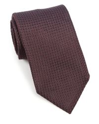 Eidos | Brown Silk Grenadine Tie for Men | Lyst