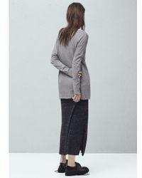 Mango Gray Fine Knit T-shirt
