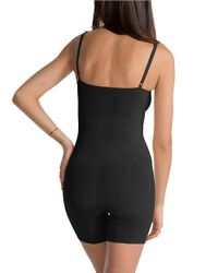Spanx Black Oncore Mid-thigh Bodysuit