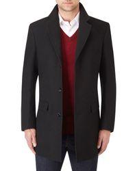 Skopes Black Finchley Overcoat for men