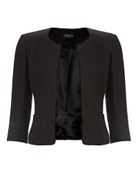 Precis Petite Black Textured Jacket