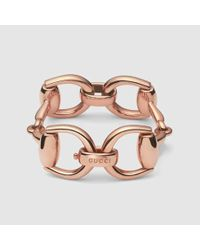 Gucci | Pink Horsebit Bracelet | Lyst