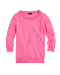 J.Crew | Pink Merino Wool Tippi Sweater | Lyst
