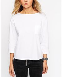 ASOS | Black The Pocket T-shirt With Long Sleeves | Lyst