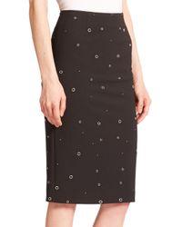 Elizabeth and James | Black Lima Grommet Pencil Skirt | Lyst