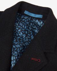 Ted Baker Blue Gains Wool Ombré Overcoat for men