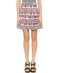 ELEVEN PARIS Multicolor Nolan Miniskirt - White