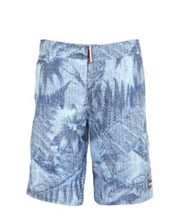 Colmar Blue Printed Nylon Swimming Shorts for men
